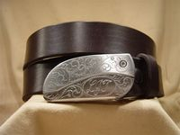 Belt Buckle Knife Leather Belts