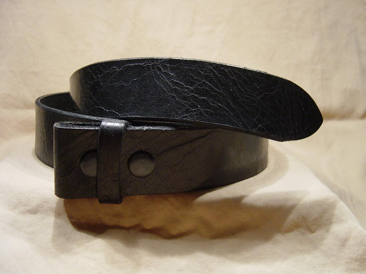 Antique Black leather belt