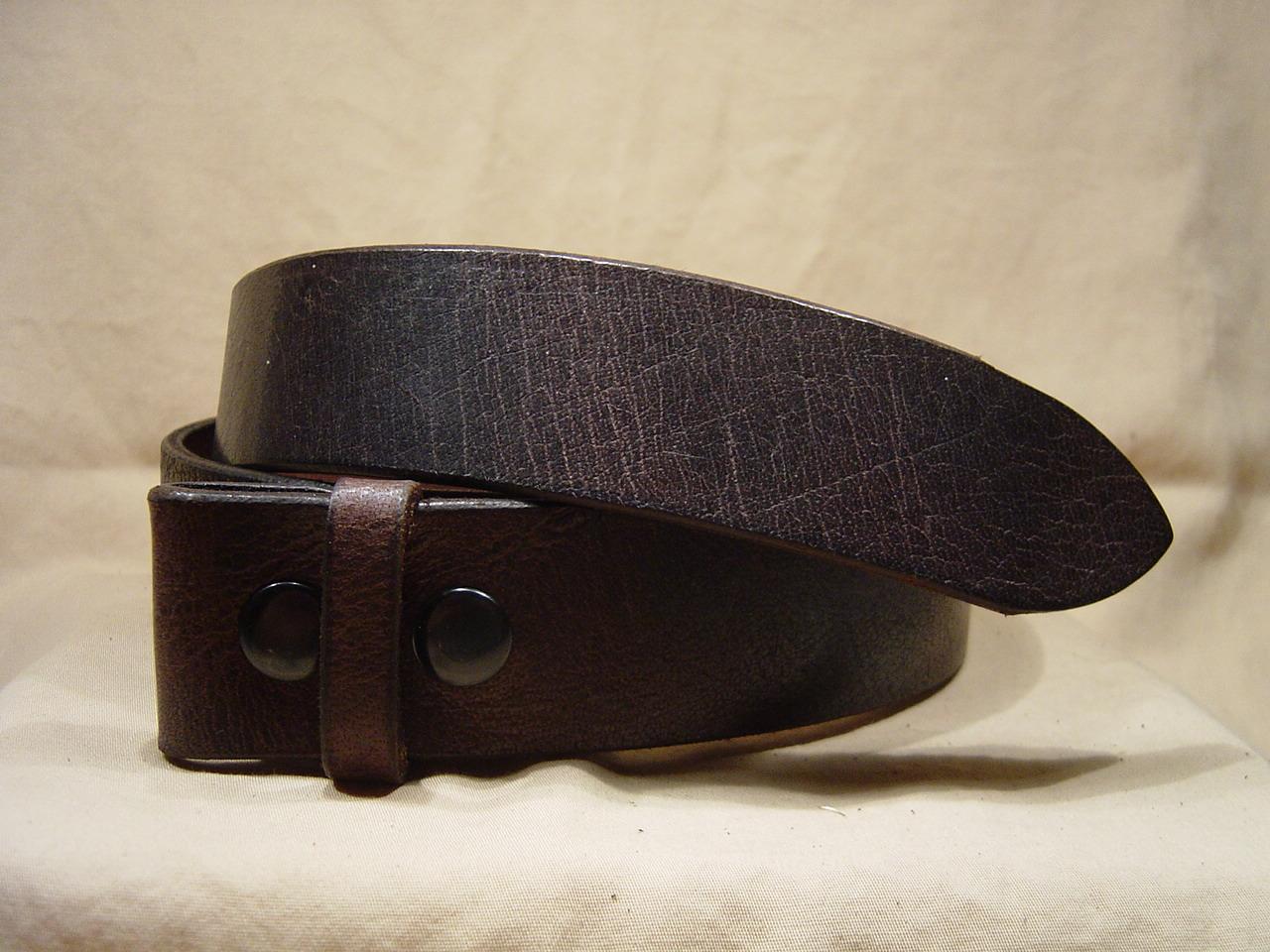Antique brown leather belt