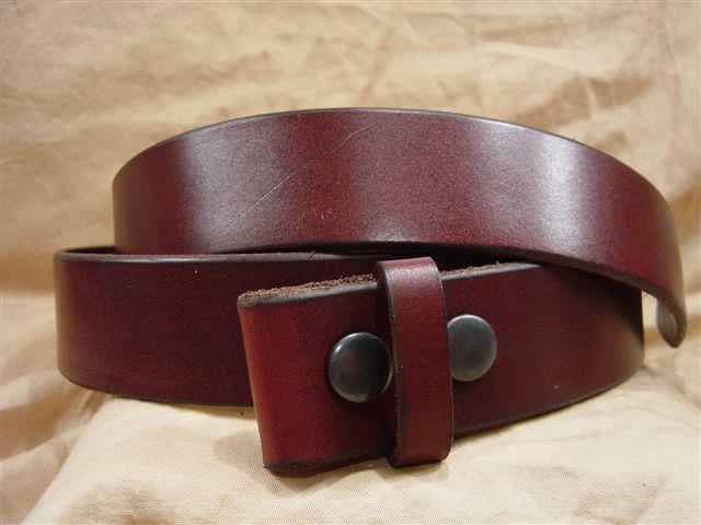 Vintage burgundy leather belt